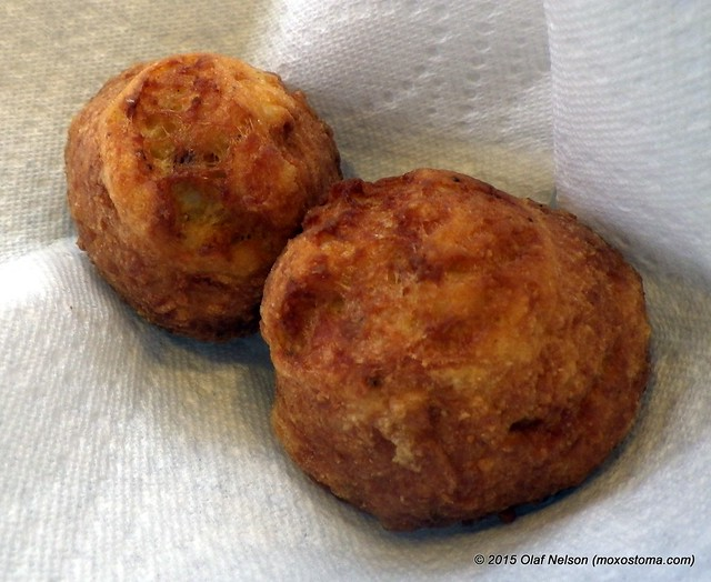 Fried Redhorse balls