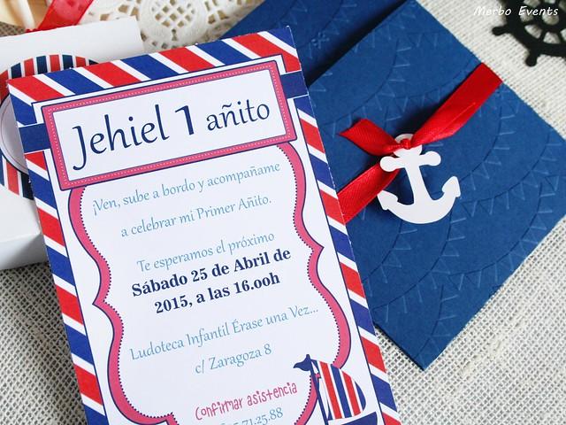 detalle invitaciones cumpleaños marinero merbo Events