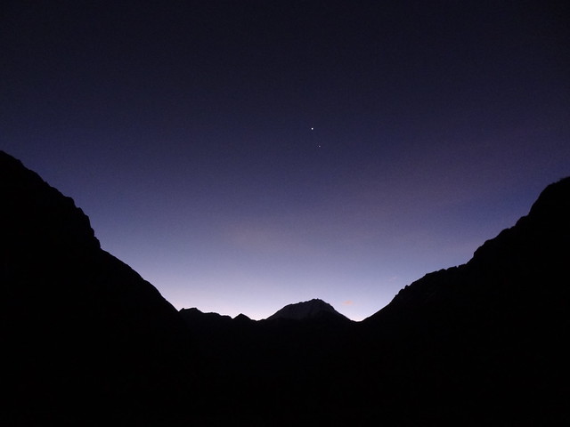 Highlights of the Cordillera Blanca Traverse: Twilight, Quebrada Cayesh, looking towards Ranrapallca