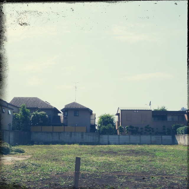 Vacant land in residential area