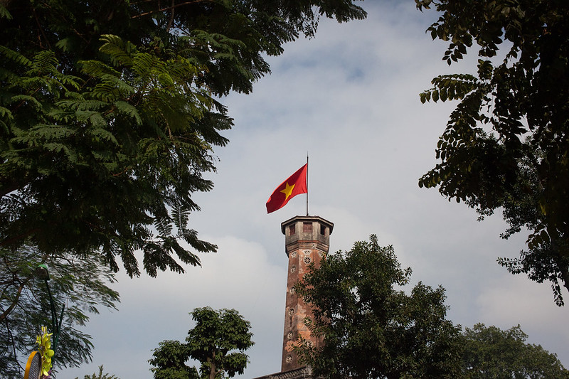 Flag Tower of Hanoi , Vietnam