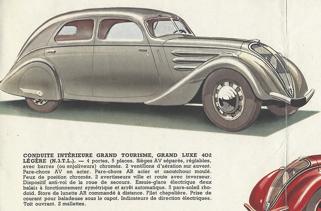 Conduite Intérieure Grand Tourisme Grand Luxe 402 Légere N3TL - Peugeot Folder 1938