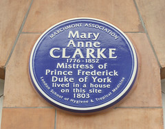 Photo of Mary Anne Clarke and Mary Ann Clarke blue plaque