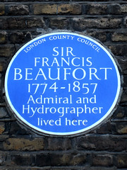 Photo of Francis Beaufort blue plaque