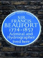 Photo of Francis Beaufort blue plaque