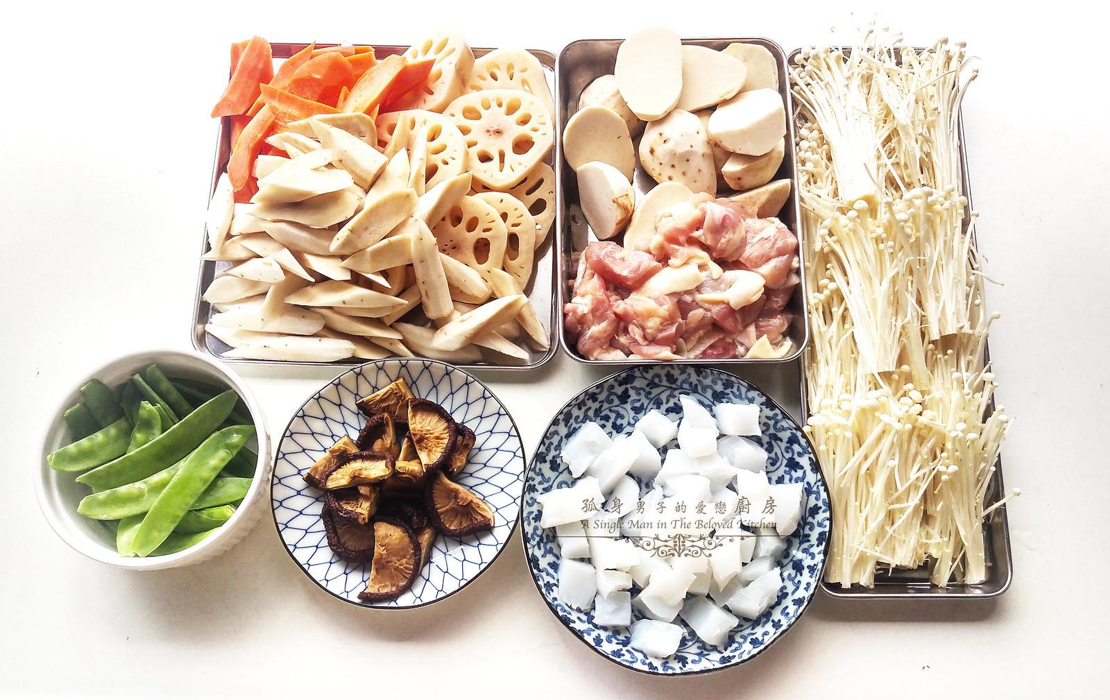 孤身廚房-食譜書《常備菜》試作——筑前煮、醬煮金針菇。甜滋滋溫暖和風味4