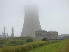 BP Tower in mist