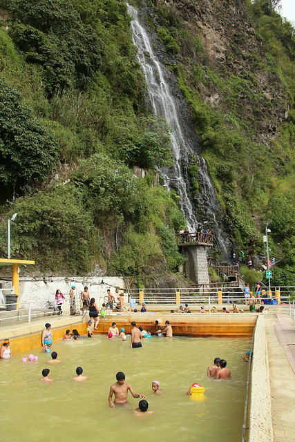 Termas de la Virgen.  Pretty messy and dirty really.  Banos, Ecuador.
