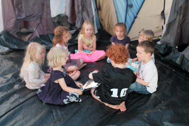 pass the parcel camping party