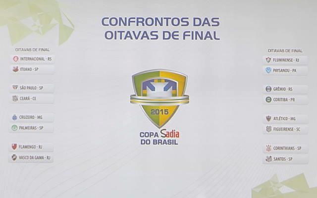 CAMINHO TRA�ADO! Confrontos das oitavas da Copa do Brasil s�o definidos
