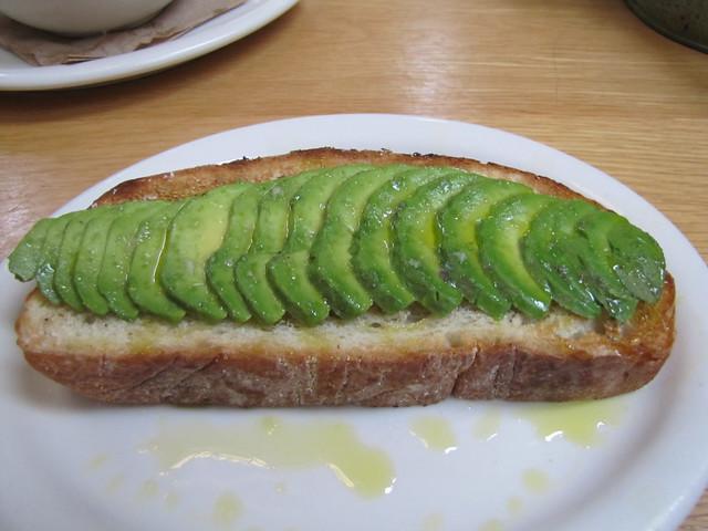 Open-Faced Avocado at Carmel Belle