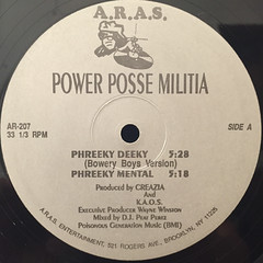 POWER POSSE MILITIA:PHREEKY DEEKY(LABEL SIDE-A)
