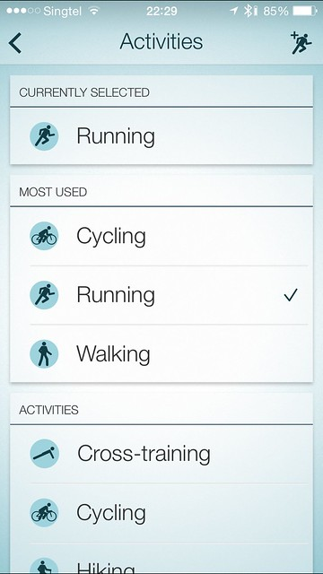 Jabra Sport iOS App - Activities