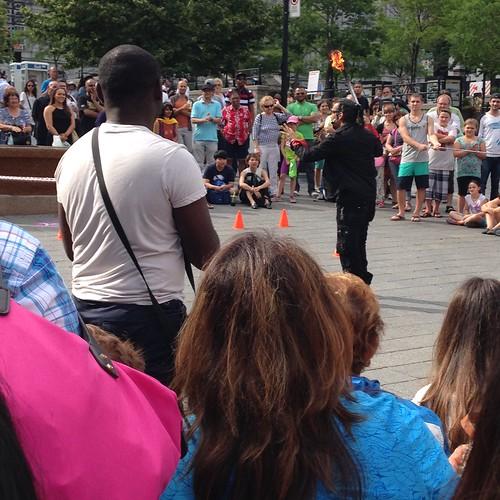 Street Entertainment at Place Jacques Cartier
