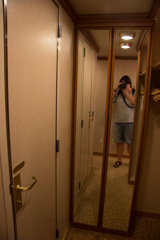 Closet in the Ruby Princess Mini Suite