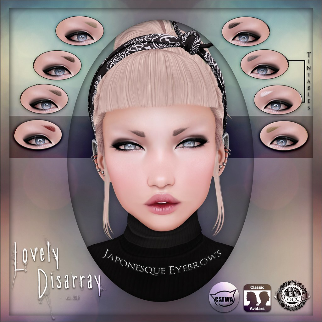 Lovely Disarray - Japonesque Eyebrows [Unisex] - SecondLifeHub.com