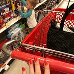 Me to the lady at the nail salon: yeah, can you make my nails the same color as a sun faded target shopping cart handle? ...I think she nailed it 😂 by bartlewife