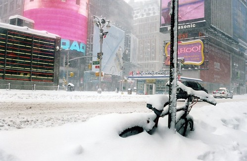 Times Square and bike