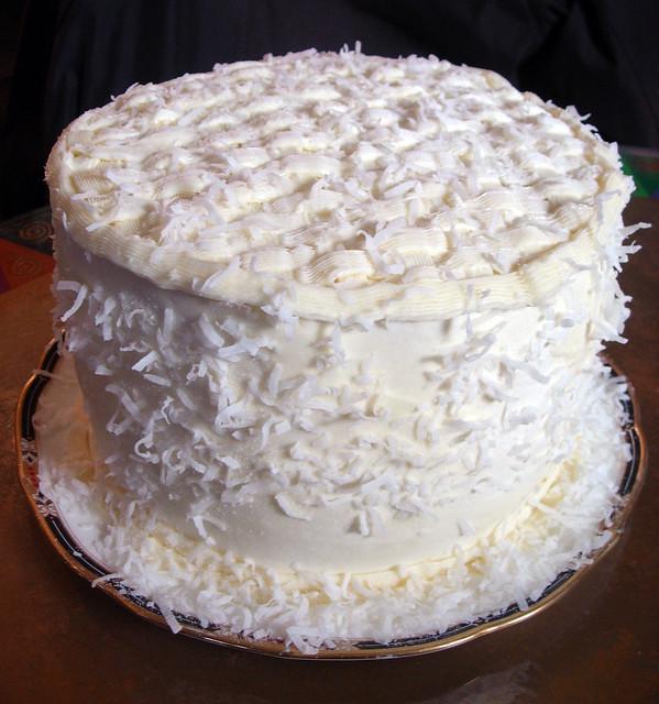 Beth S Coconut Birthday Cake Flickr Photo Sharing