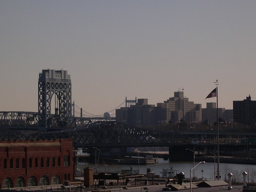 View of the Triboro bridge from the west