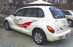 minivan(0.0), compact sport utility vehicle(0.0), automobile(1.0), automotive exterior(1.0), vehicle(1.0), chrysler pt cruiser(1.0), mid-size car(1.0), city car(1.0), compact car(1.0), chrysler(1.0), land vehicle(1.0),