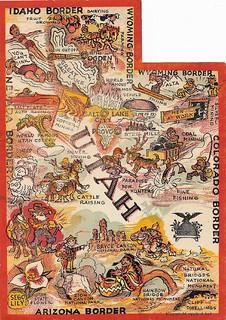 postcard: 1947 utah
