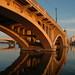 Tempe Bridge, Bathed in Sunset by Thad Roan - Bridgepix