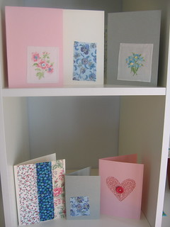 Fabric scraps and button cards