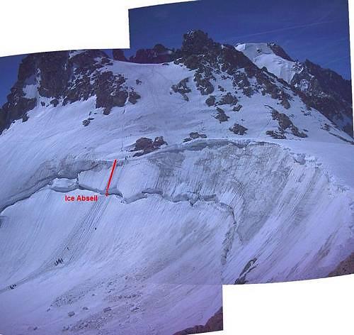 Tete Blanche (3500m) ice abseil