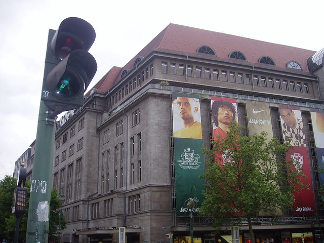 kadewe shopping centre and west berlin green man flickr photo sharing. Black Bedroom Furniture Sets. Home Design Ideas