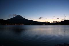 河口湖と富士山 (Lake Kawaguchi-ko with Mt. Fuji)
