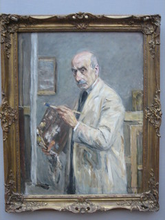 Self-Portrait in Painter's Overall, Max Liebermann, 1922