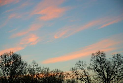 pink sky clouds sunrise wolken nubes nuvens nuages nubi