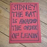 Sydney the Bat Is Awarded the Order of Lenin