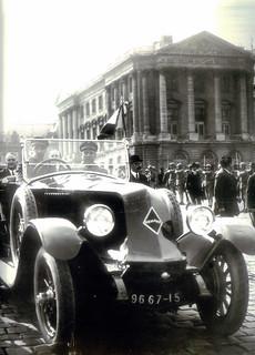 Gaston Doumergue (June 1924) in a Renault 40 CV
