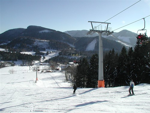 Skiing in Annaberg