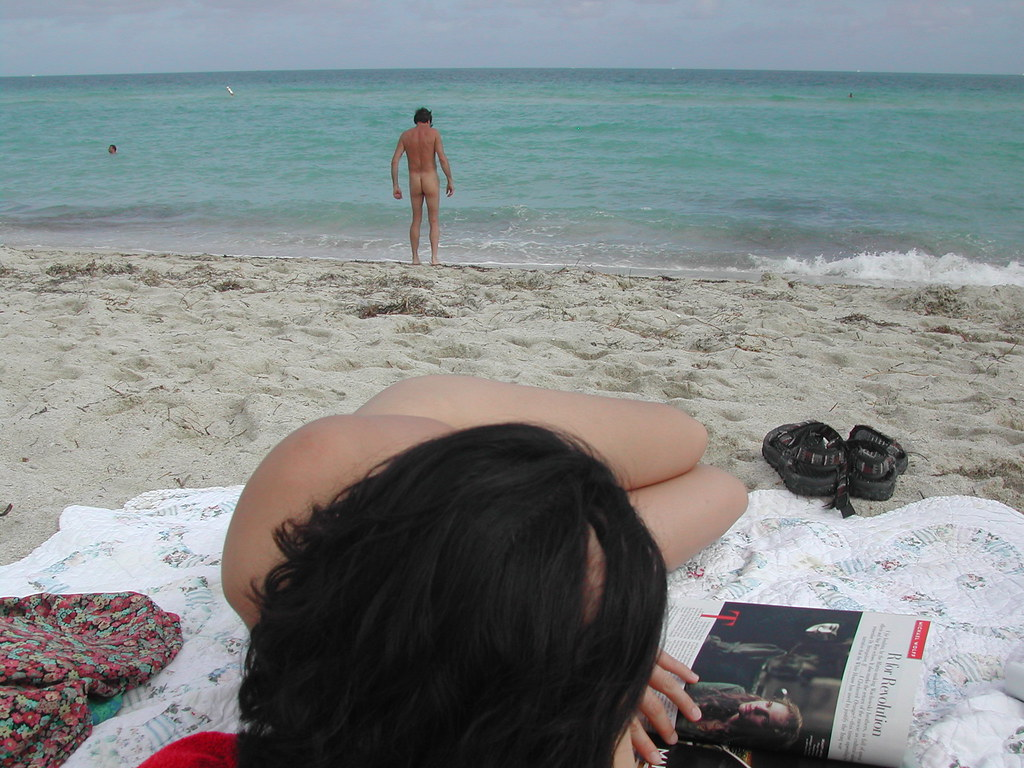 Haulover - the clothing-optional section of Miami Beach