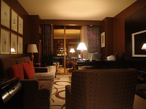 the living room at THE hotel