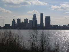 Louisville, Kentucky Across Ohio River from Jeffersonville, Indiana