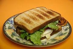 sandwich, meal, lunch, breakfast, food, dish, toast,