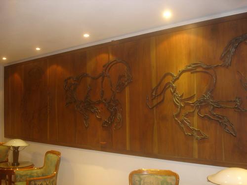 Recubrimiento de paredes del hogar con paneles for Planchas de madera para paredes