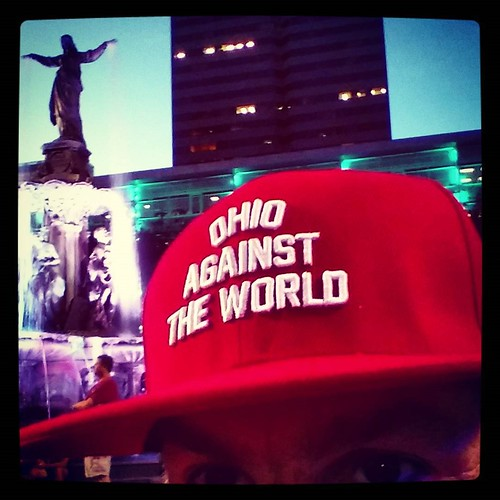 My new favorite ballcap courtesy #OhioAgainstTheWorld. But why is my photo backwards? @oatw #oatw