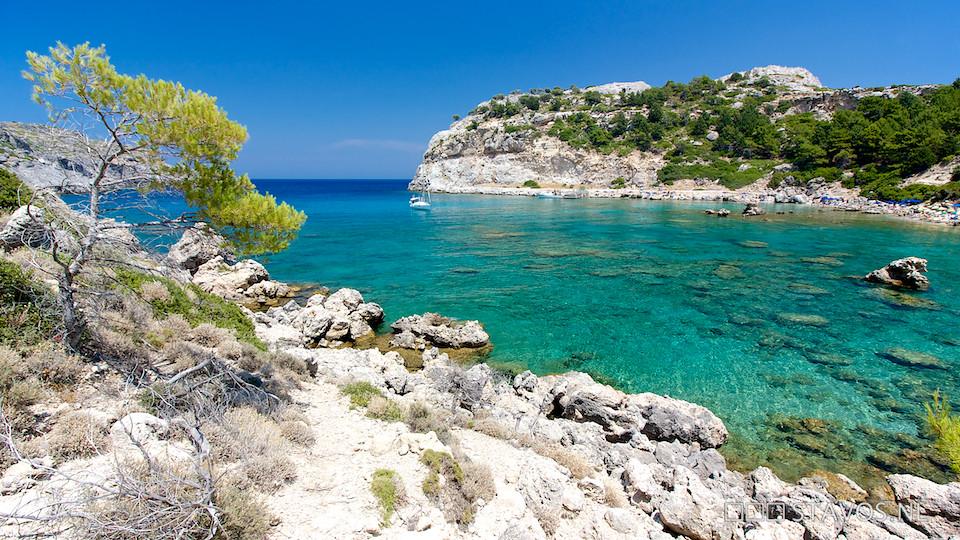 Lymberia Hotel Map - Rhodes  Greece