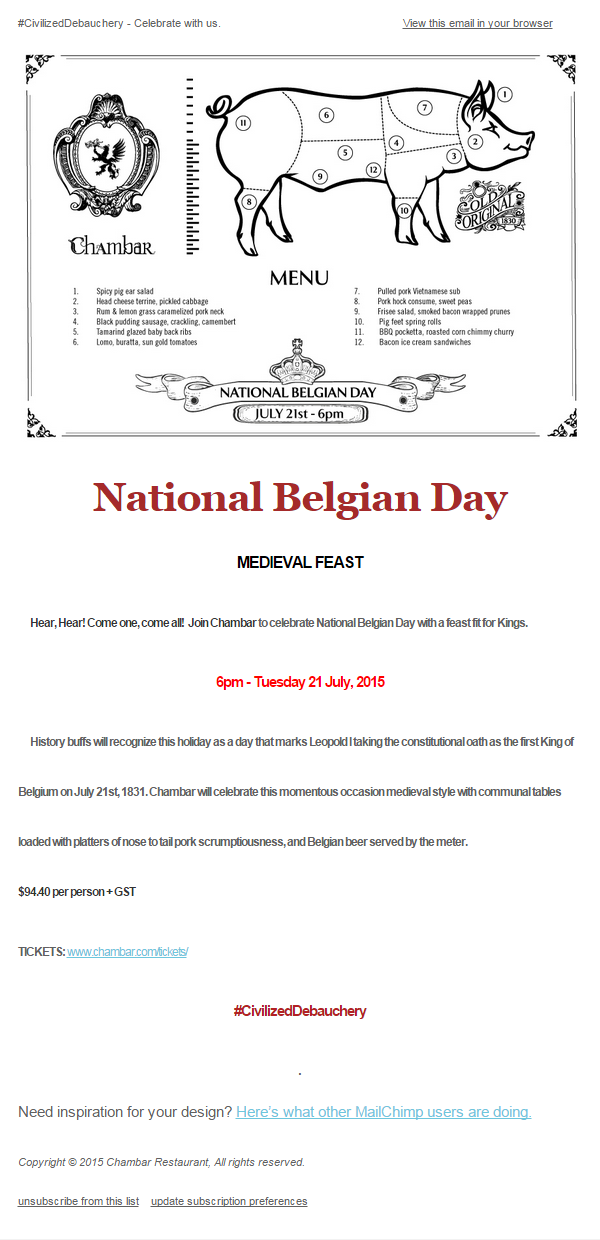 2015-Jul-21 Chambar National Belgian Day Medieval Feast