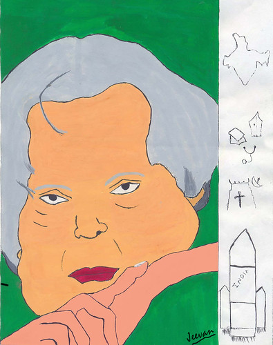 My painting on Kalam... when he turned 75 in 2006