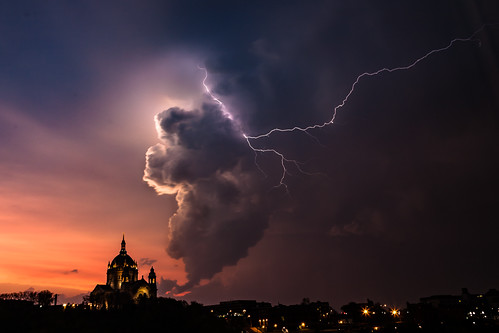 The storm, the cathedral, and the ligtning
