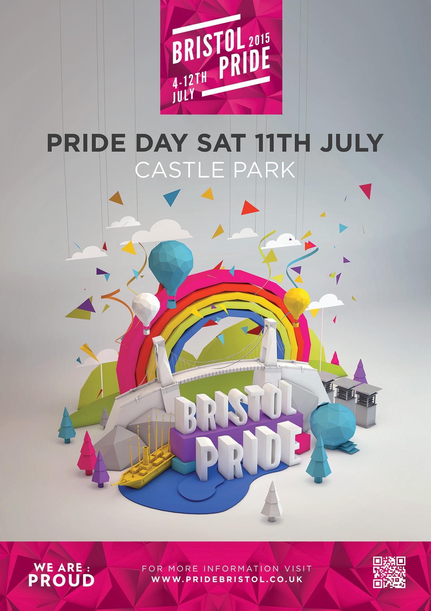 Bristol Pride 2015 Branding