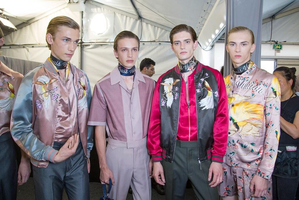 Dominik Sadoch3376_SS16 Paris Louis Vuitton_Truls Martinsson, Lucas Satherley, Gabriel Hengeveld(fashionising.com)