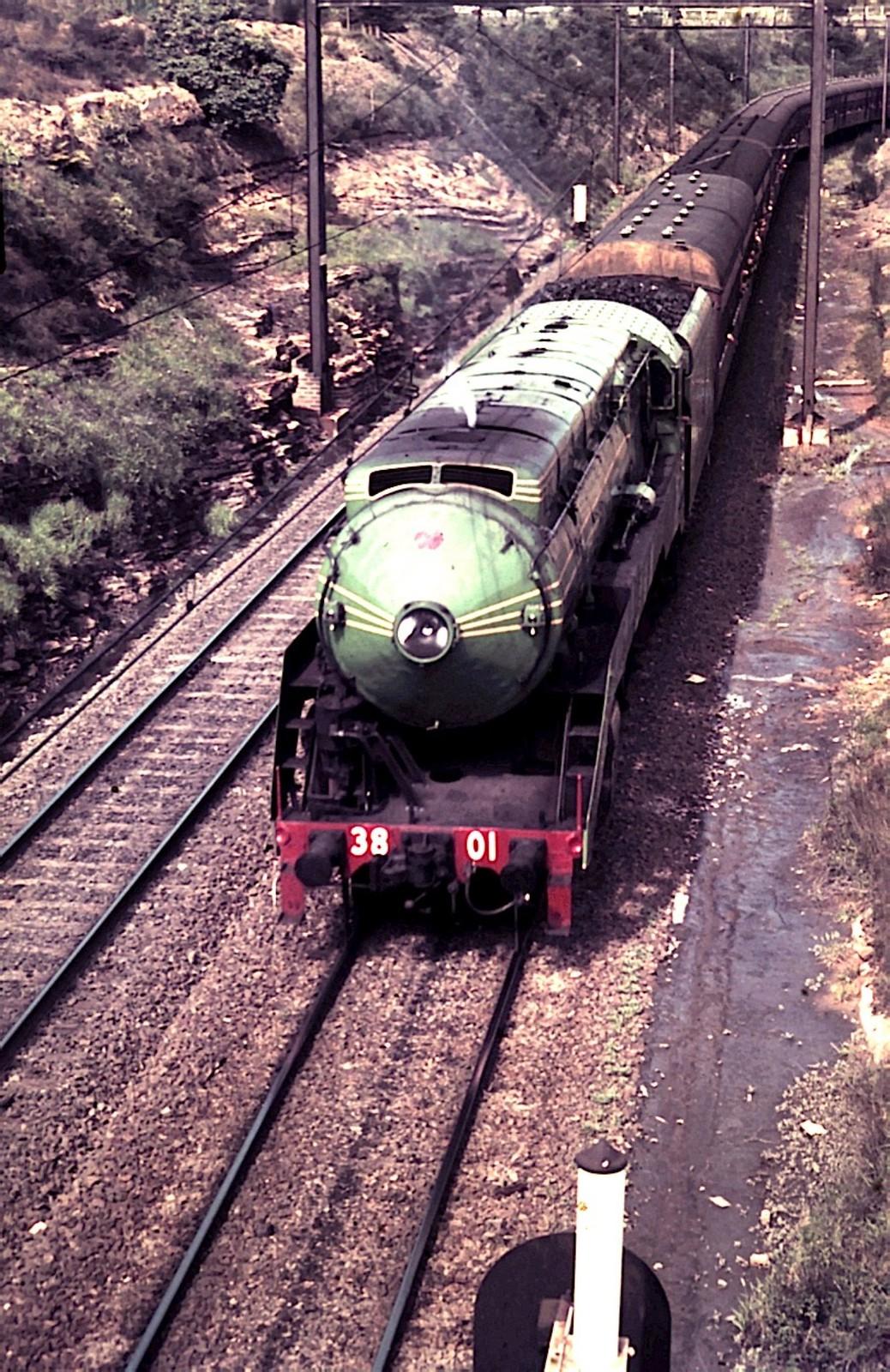 3801 at Lidcombe 1975 by Jim Jarron