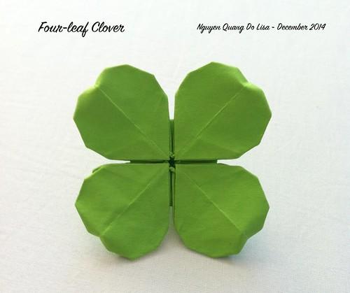 Origami Four-leaf Clover